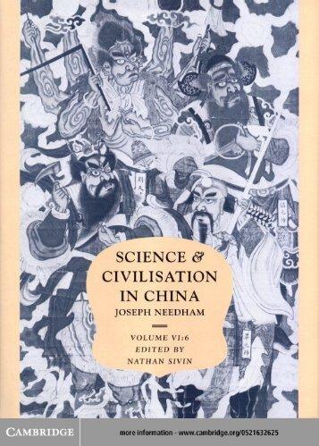 science and civilisation in china, volume 6 - Biblio.nhat-nam.ru