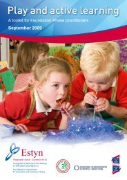 Play and active learning | A toolkit for Foundation Phase ... - Estyn