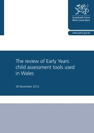 The review of early years child assessment tools ... - Learning Wales