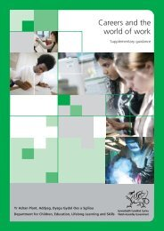 Careers and the world of work: Supplementary ... - Learning Wales