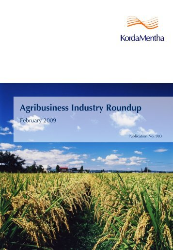 Agribusiness Industry Roundup - KordaMentha