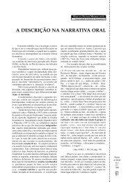 A DESCRIÇÃO NA NARRATIVA ORAL - GELNE