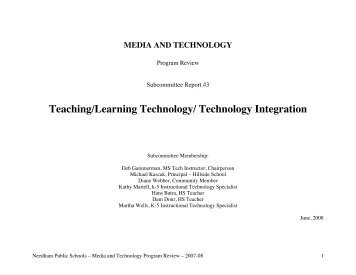Instructional Technology - Needham Public Schools