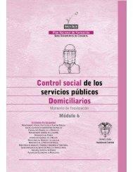 Módulo 6. Control social de los servicios públicos domiciliarios