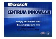 Audyty bezpieczeństwa dla samorządów i firm - Centrum Innowacji ...