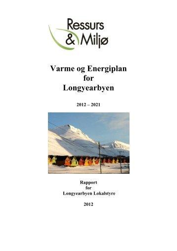 Varme og Energiplan for Longyearbyen - Sysselmannen