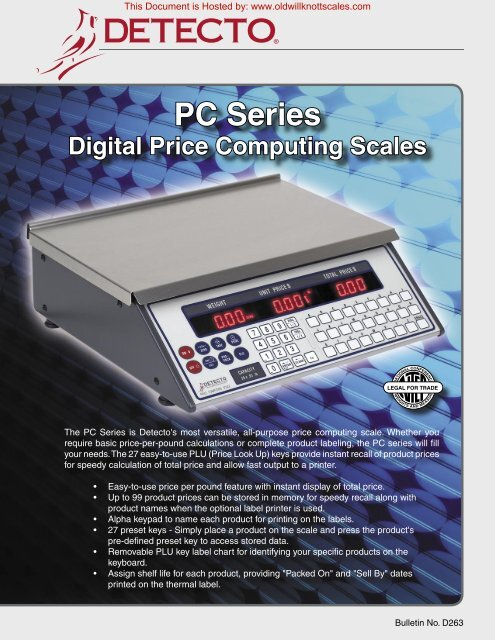 PC Series - Scale Manuals