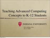 Teaching Advanced Computing Concepts to K-12 Students