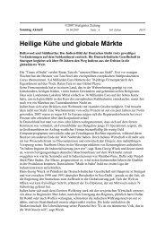 Heilige Kühe und globale Märkte - Uwe Roth