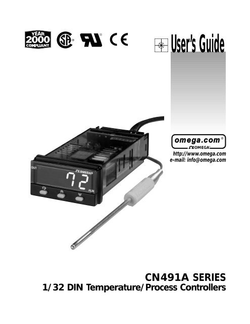 1/32 DIN Temperature/Process Controllers - Omega Engineering
