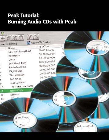 Burning Audio CDs with Peak - SRTalumni.com