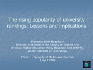 Growing Research in New Universities - Centre for the Study of ...