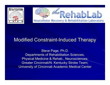 Modified Constraint-Induced Therapy