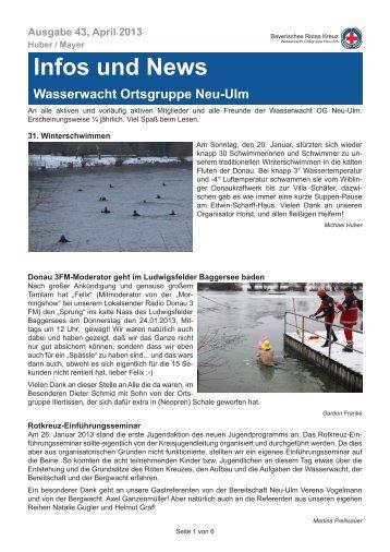 Infos und News 43 - Wasserwacht Ortsgruppe Neu-Ulm
