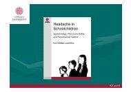Headache in Schoolchildren - BLF