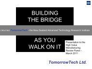 building the bridge as you walk on it - Industrial Research Limited