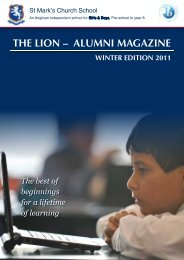 THE LION – ALUMNI MAGAZINE - St Mark's Church School