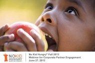 Corporate Partner June 2013 Webinar Slides - Share Our Strength