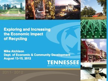 Exploring and Increasing the Economic Impact of Recycling