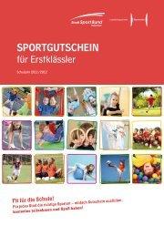 SportgutSchein für Erstklässler - Stadtsportbund Hannover e.V.