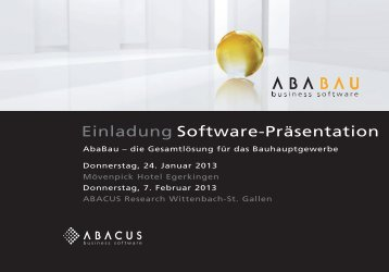 Einladung Software-Präsentation - Axept