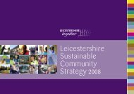 Leicestershire Sustainable Community Strategy 2008