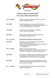 Polnische Tage in Sachsen-Anhalt - Deutsch-Polnische Gesellschaft ...