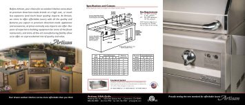 Before Artisan, your choice for an outdoor kitchen ... - US Appliance