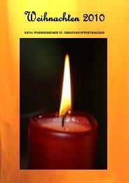 2010 Weihnachtsbrief Eppertshausen - St. Sebastian Eppertshausen