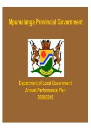 Annual Performance Plan 2009-10 - Co-operative Governance and ...