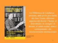 Fons Josep Trueta. - Biblioteca de Catalunya