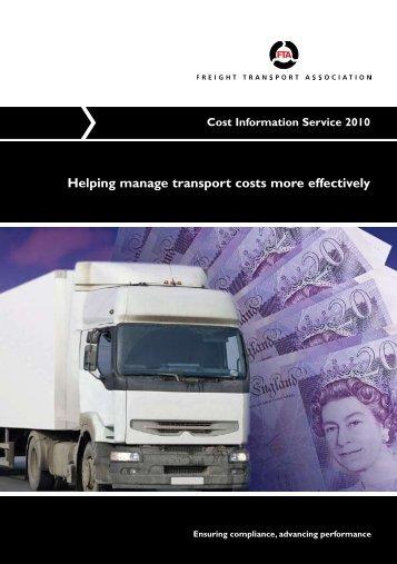 FTA's Cost Information Service - Freight Transport Association
