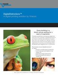 DigitalDistinctions™ A digital printing solution by Viracon.