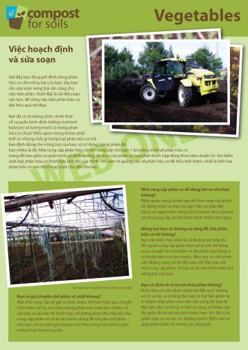 Vegetables - Compost for Soils
