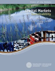 Capital Markets and Sustainability - NEIA