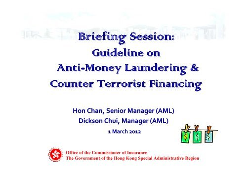 Guideline on Anti-Money Laundering and Counter-Terrorist Financing