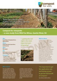 Wild Fox Wines - vineyards - Compost for Soils