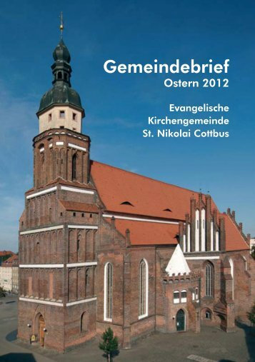 Gemeindebrief - Evangelische Kirchengemeinde St. Nikolai Cottbus