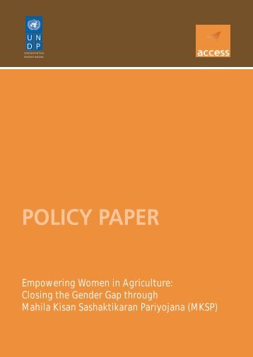 Policy Paper - Empowering-Women-in-Agriculture