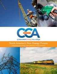 CEA's North America's New Energy Future Report - 1 - Consumer ...