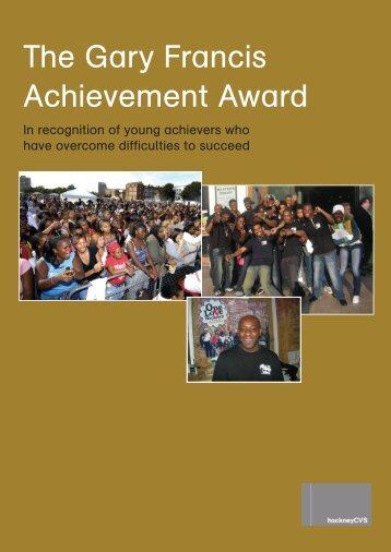 The Gary Francis Achievement Award - Hackney CVS