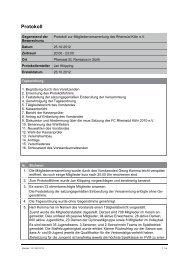 Protokoll Mitgliederversammlung vom 25.10.2012 V1.1 - FC Rheinsüd
