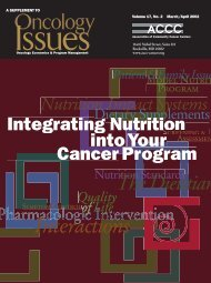 Integrating Nutrition into Your Cancer Program - Association of ...