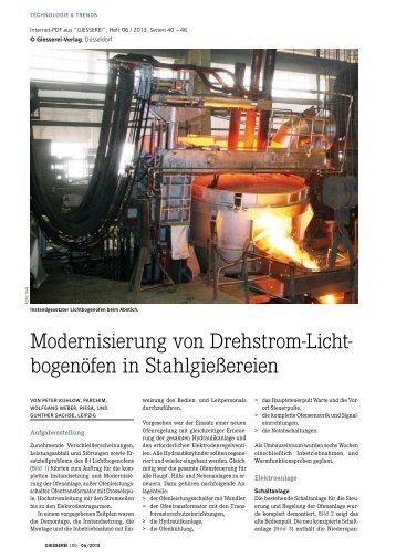 Modernisierung von Drehstrom-Lichtbogenöfen in ... - ATS-Sachse