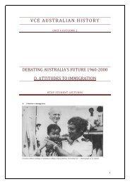 Australian History_Immigration_GMartin - HTAV