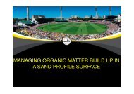 managing organic matter build up in a sand ... - Compost for Soils