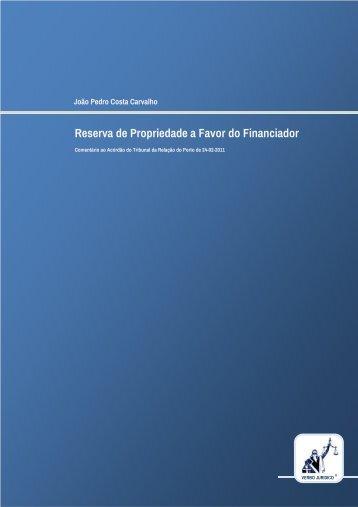 Reserva de Propriedade a Favor do Financiador