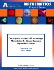 Convergence Analysis of Lanczos-type Methods for the Linear ...