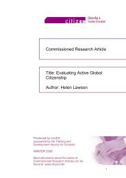 Evaluating Active Global Citizenship - Citized