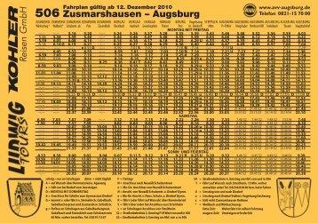 506 Zusmarshausen – Augsburg